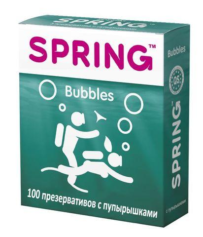 Презервативы SPRING BUBBLES с пупырышками - 100 шт.