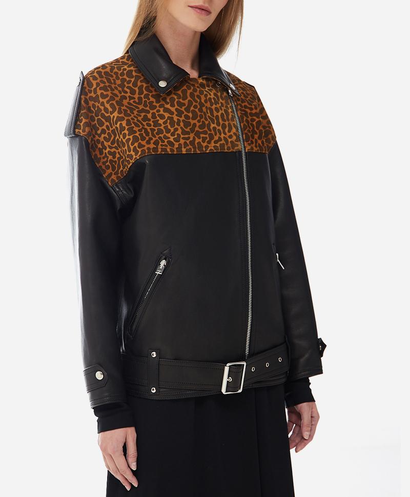 Кожаная куртка Leo Oversized
