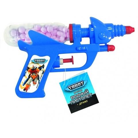 TOBOT Драже с игрушкой Водный пистолет 1кор*6бл*12шт, 10г.