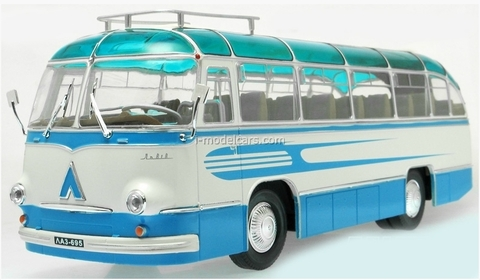 LAZ-695B Tourist bus lightblue-white Ultra Models 1:43