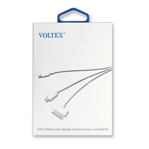 Адаптер Voltex (3 в 1) microUSB, Lightning (iPhone), P1000