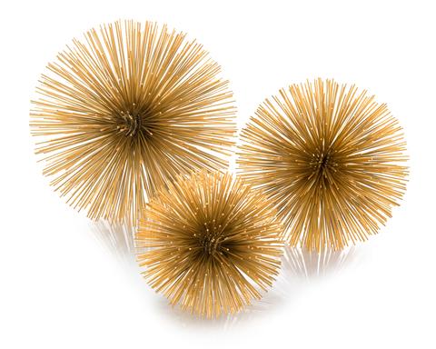 Set of Three Gold Burst Triplets