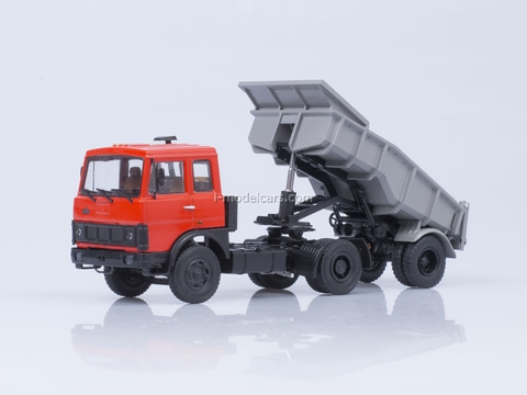 MAZ-5432 tractor cab early red and trailer MAZ-5232V gray 1:43 AutoHistory