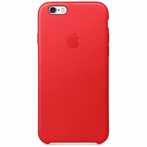 Чехол iPhone 6S Leather Case /red/