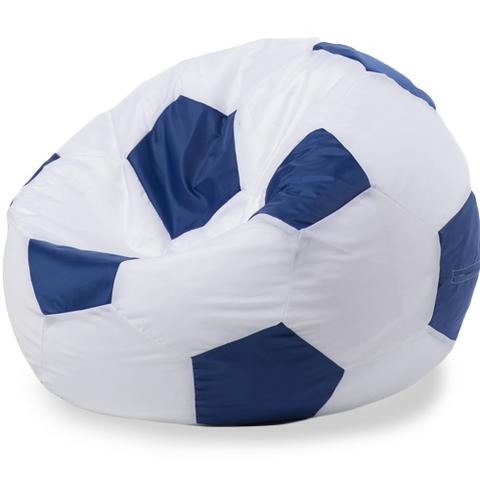Бескаркасное кресло «Мяч» XXL, Белый и синий
