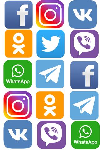 Печать на сахарной бумаге, Социальные Сети 2