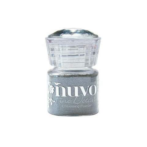 Пудра для эмбоссинга NUVO - classic silver