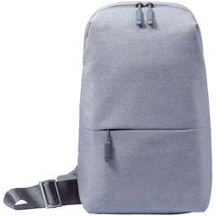 Рюкзак Xiaomi Mi City Sling Bag, с одним плечевым ремнём, светло-серый, 32х22х8 см