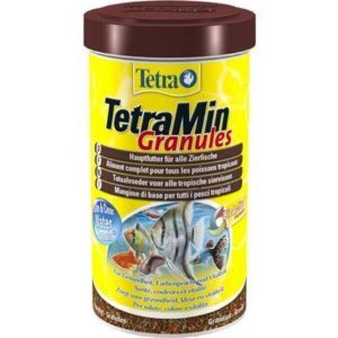 TETRAMin Granules (гранулы) основной корм для всех видов аквариумных рыб 250мл