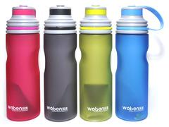 Бутылка для воды. Материал: пластик, силикон. Объём 670 ml. WB-8407