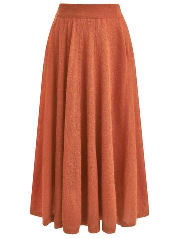 Женская юбка терракотового цвета - фото 6