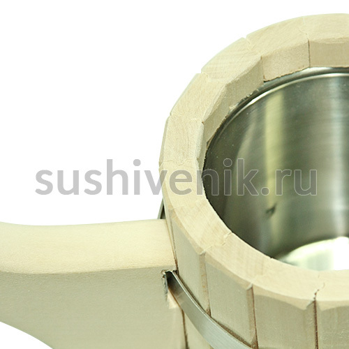 Ковш-черпак из липы со вставкой из нержавеющей стали, 0,5 л
