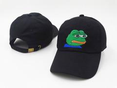 Кепка лягушка черная (Бейсболка лягушка черная)