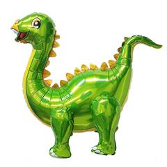 Шар (39''/99 см) Ходячая Фигура, Динозавр Стегозавр, Зеленый, в упаковке 1 шт.