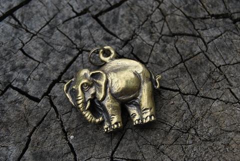 Кулон Слон Плоский