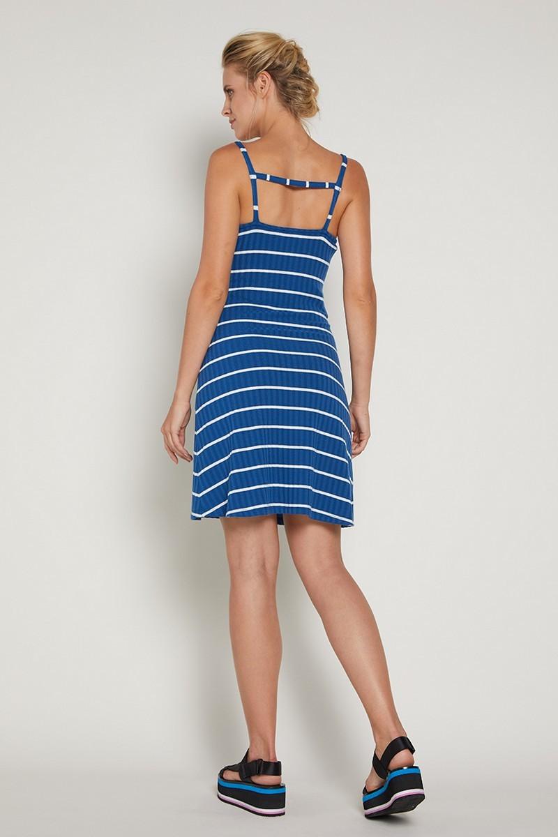 Платье для беременных 09363 синие в полоску