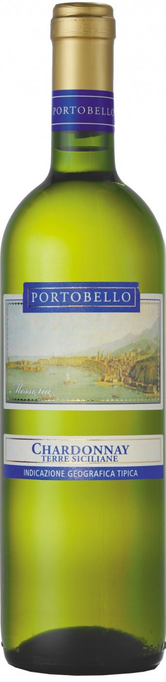 Вино Портобелло Шардоне Терре Сицилиане белое полусладкое 0,75л (6)