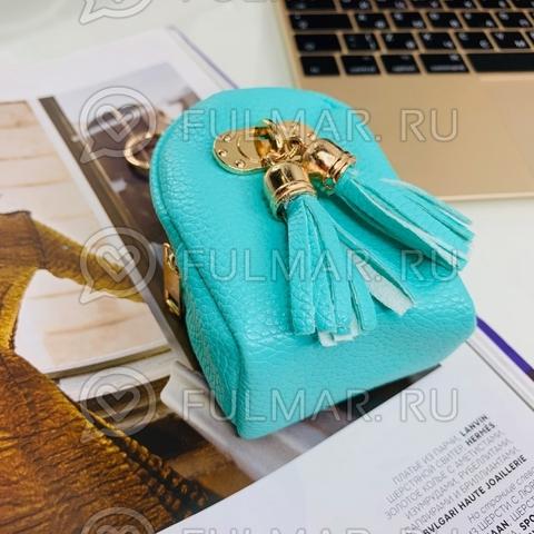 Брелок-мини кошелёк-ключница «Актриса» бирюзовая