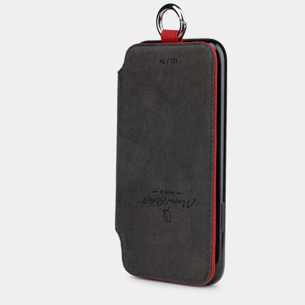 Чехол Marcel для iPhone 11 из натуральной кожи теленка, красного цвета