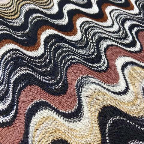 Ткань трикотаж Missoni  коричневый цвет  3147