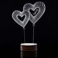 3D светильник Сердца