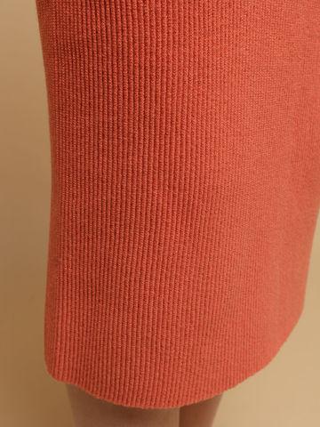 Женская юбка терракотового цвета из шерсти - фото 5