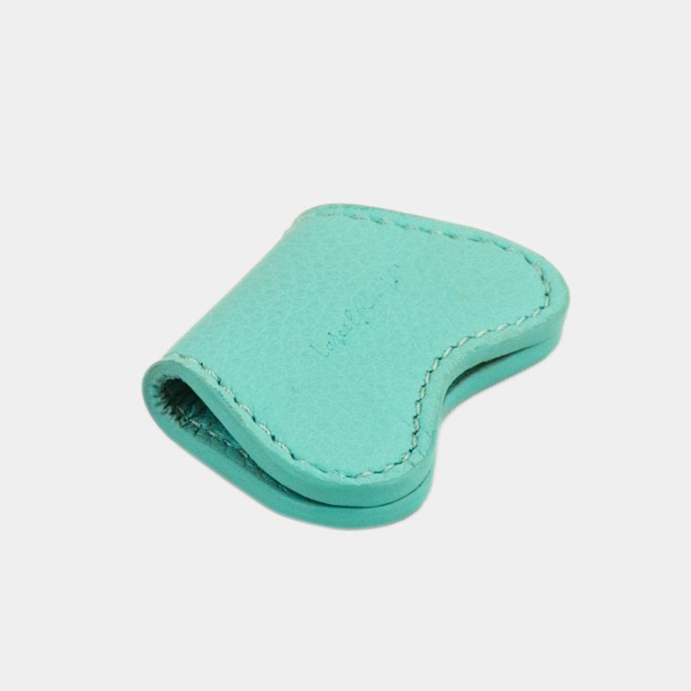 Чехол-держатель для наушников Papillon Easy из натуральной кожи теленка, цвета тиффани