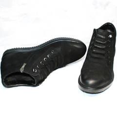 Мужские зимние ботинки из натуральной кожи Luciano Bellini 71783 Black.