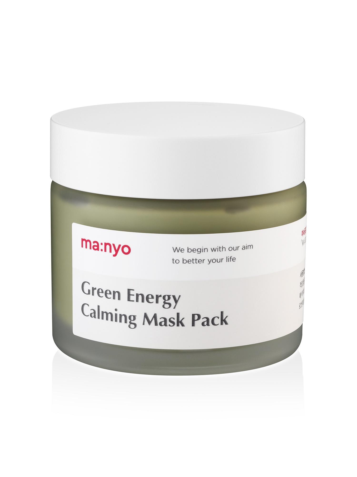 Купить Успокаивающая Маска Для Лица С Экстрактом Зеленого Чая MANYO FACTORY Green Energy Calming Mask Pack