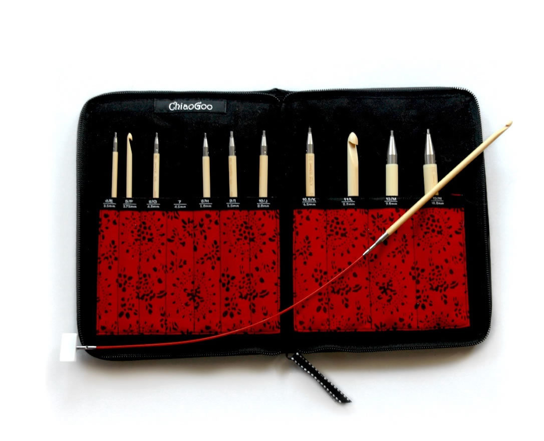 1500-C Набор крючков для тунисского вязания Chiaogoo