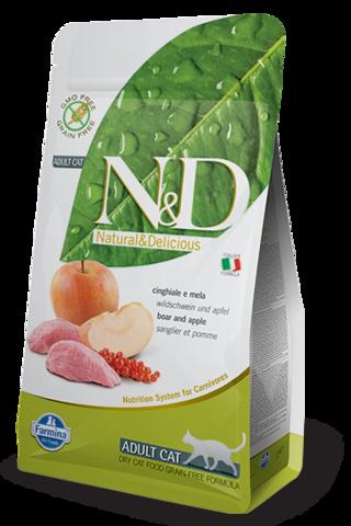 Сухой беззерновой корм Farmina N&D Grain Free Cat Boar & Apple Adult