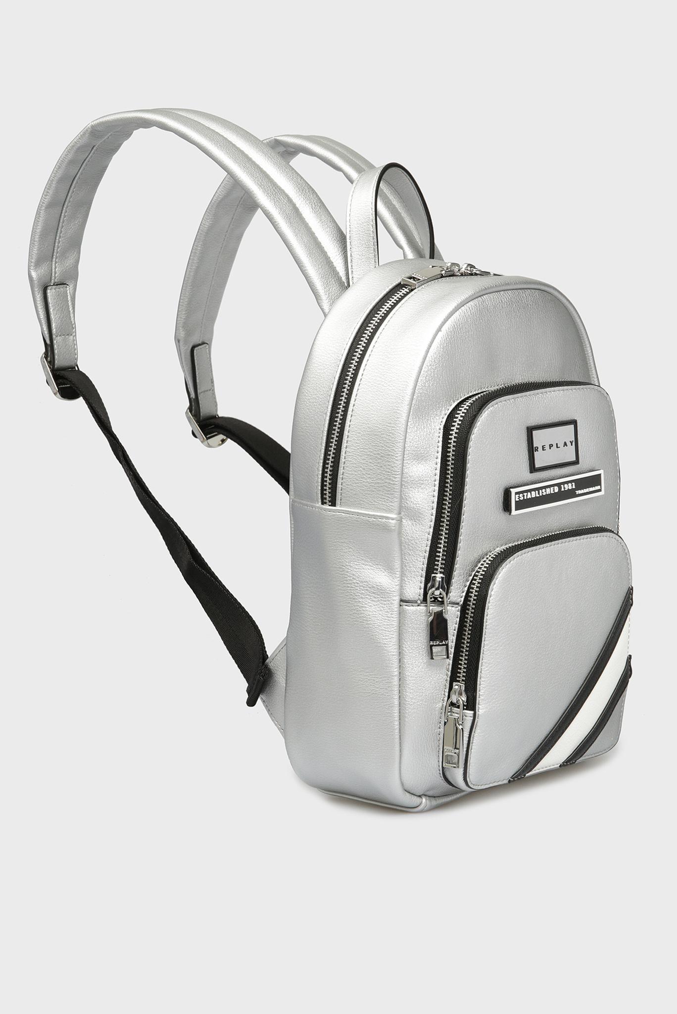 Женский серебристый рюкзак Replay