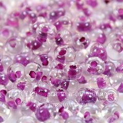 38628 Бисер Preciosa Дропс (Drops) 5/0 Кристалл блестящий с фиолетовым центром