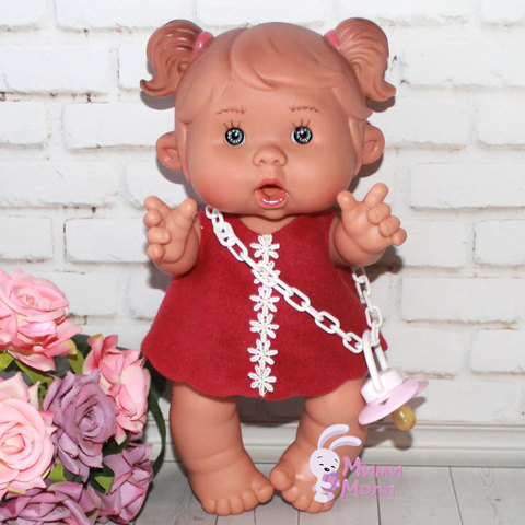 Пупс Nines D'Onil Забава в ярком платье 26 см