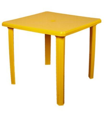 Пластиковый стол квадратный желтый (ИжПласт)