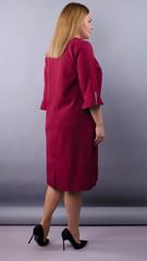 Сьюзен. Нарядное платье plus size. Бордо.
