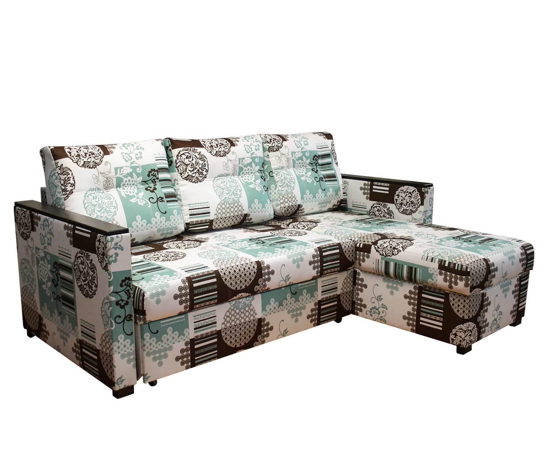 угловой диван-кровать Карелия-Люкс 2д1я с узкими подлокотниками П2