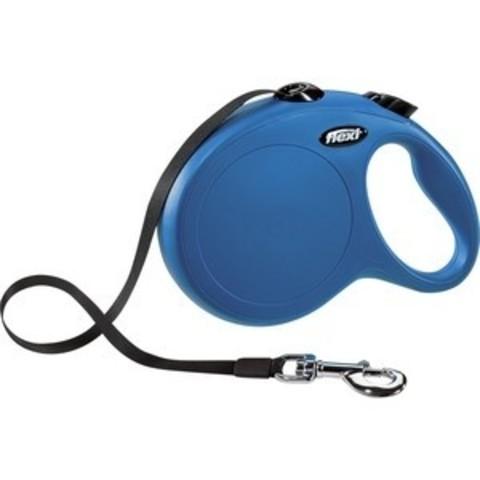 Flexi поводок-рулетка лента New Classic  XS, 3м до 12кг, синяя