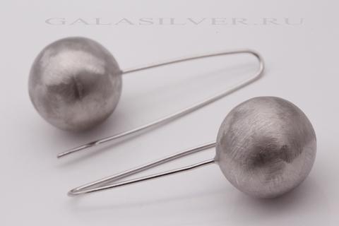 Серьги из серебра 925 без камней 15334 Италия