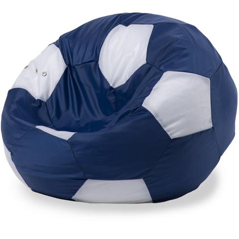 Бескаркасное кресло «Мяч» XXL, Синий и белый
