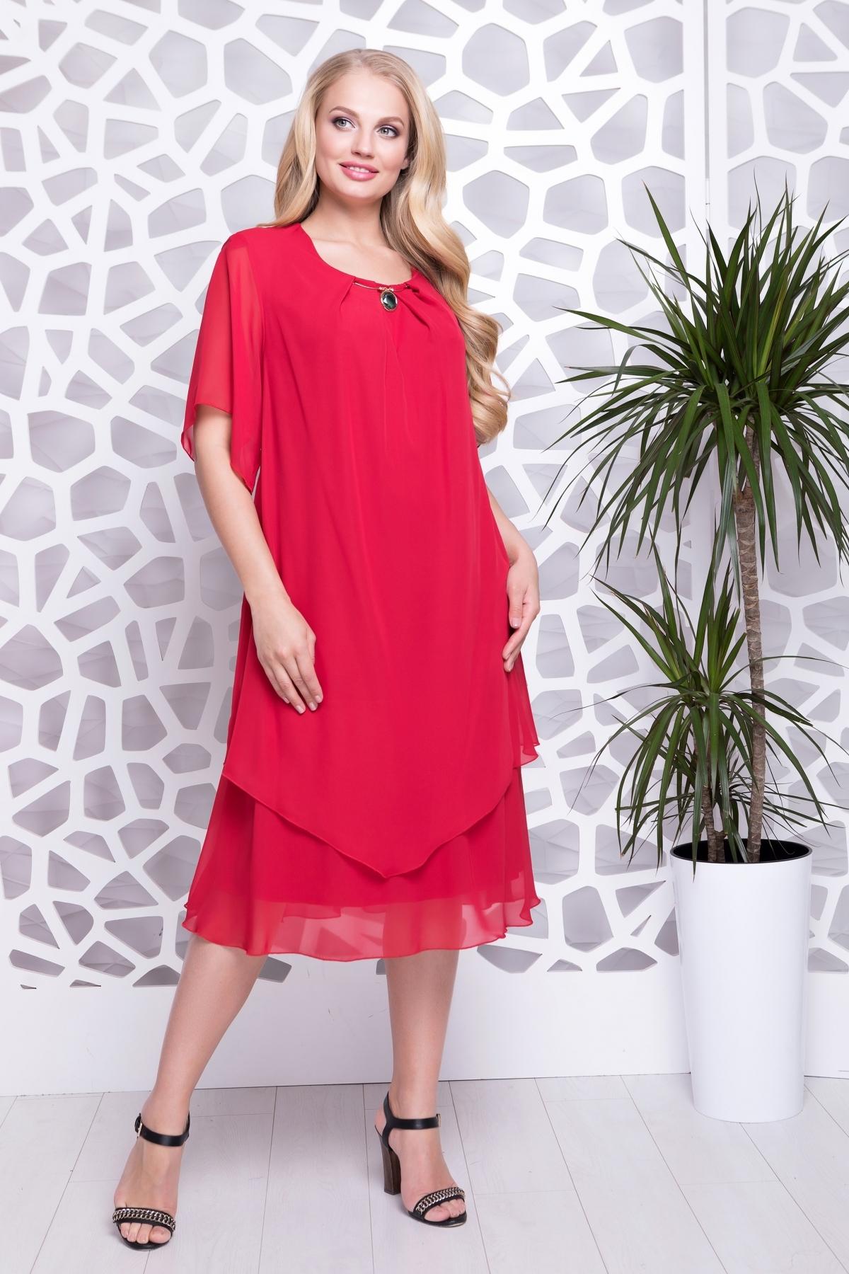 Платье Николь (красный)