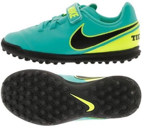 Бутсы детские сороконожки Nike Tiempo Rio III (V) TF Junior Найк