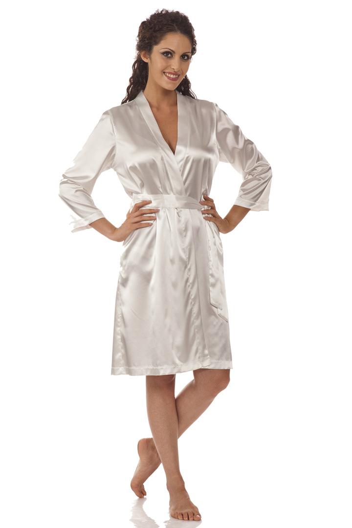 Шелковый халат-кимоно B&B
