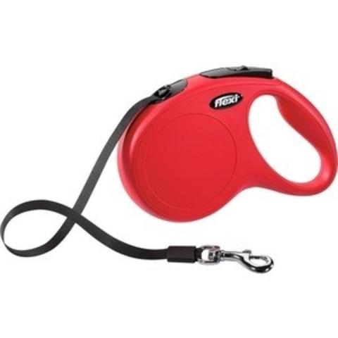 Flexi поводок-рулетка New Classic M (до 25 кг) 5 м лента (красная)