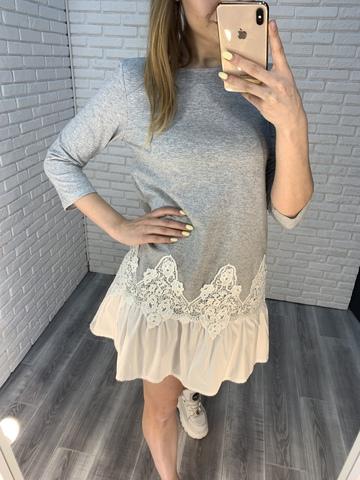 летнее платье с рюшами недорого