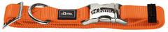 Ошейник для собак, Hunter ALU-Strong L (45-65 см), нейлон с металлической застежкой, оранжевый