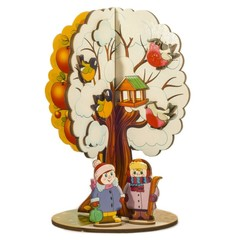 Деревянная игра Яблоня, Времена года, Нескучные игры, арт. 8065