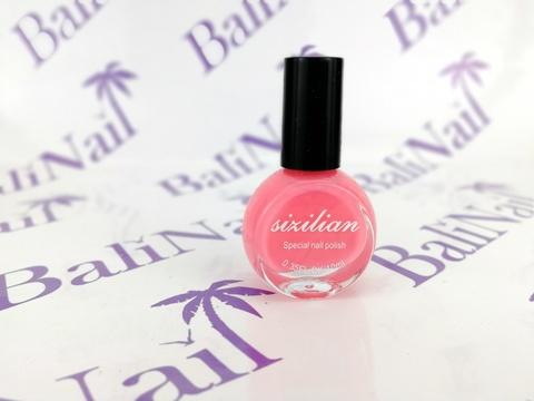 Краска для стемпинга розовая пастельная (016), 10 мл