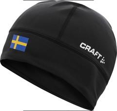 Шапка лыжная Craft Light Thermal Hat Black  Se Flag Сборной Швеции