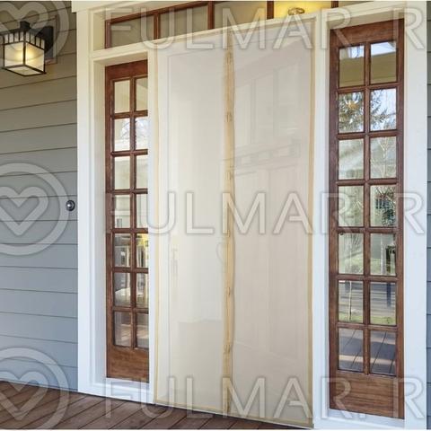 Москитная сетка от комаров на дверь на магнитах 80x210 см Бежевая